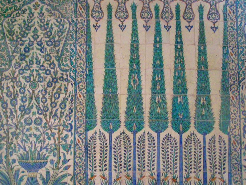 Palau de Topkapi detall de les rajoles  en verd