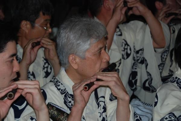 músics al Gion Matsuri a Kyoto