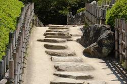 camí  dins el jardi d'Okayama