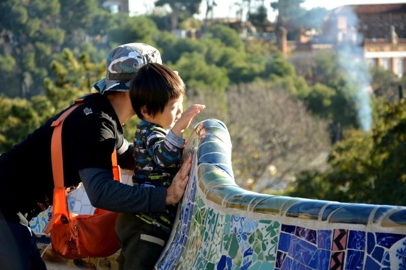 Parc Güell 5, mare i fill