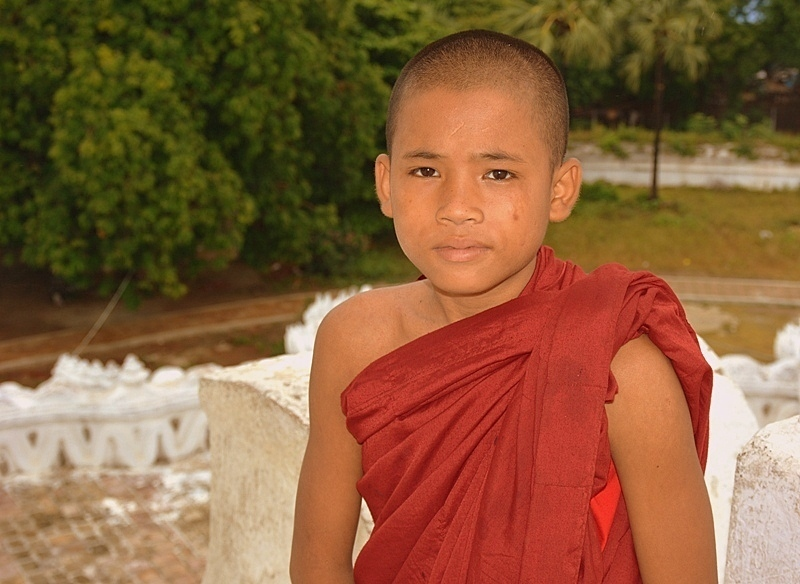 Little monk in Mingun, Myanmar