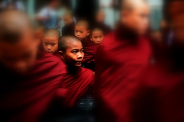 Monks in a monastery