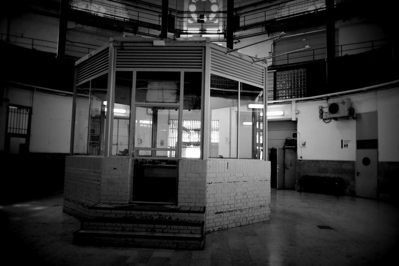 Zona de control a l'entrada de les galeries