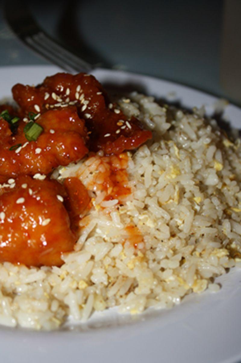 sweet, sour, pork ribs, rice