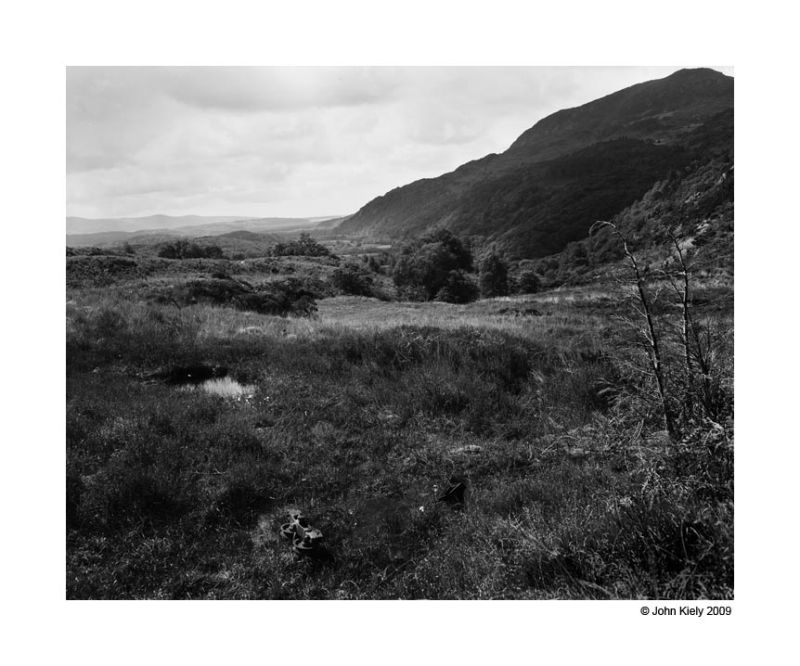 Photograph of the old copper mines at Cwm Bychan.