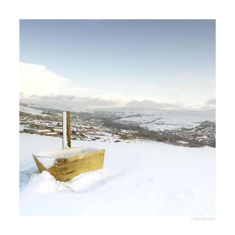 Shots taken of a snow covered Mossley