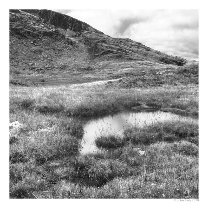 Black & white landscape photograph llyn croesor