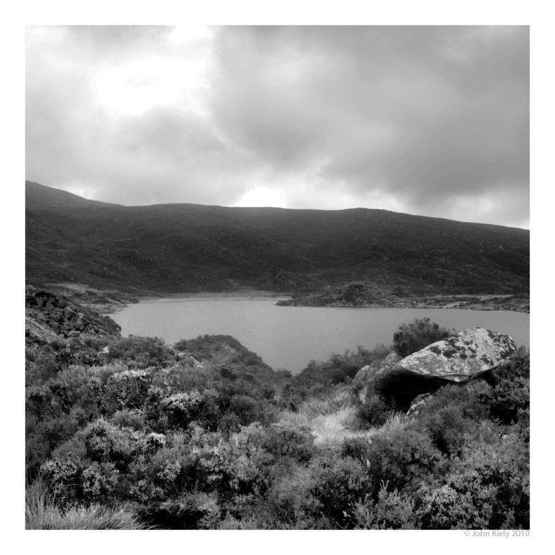 Black & white landscape photograph of Gloyw Lyn