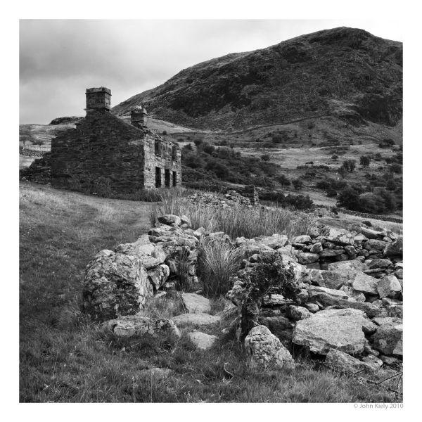 Black & white landscape photograph on Manod Mawr