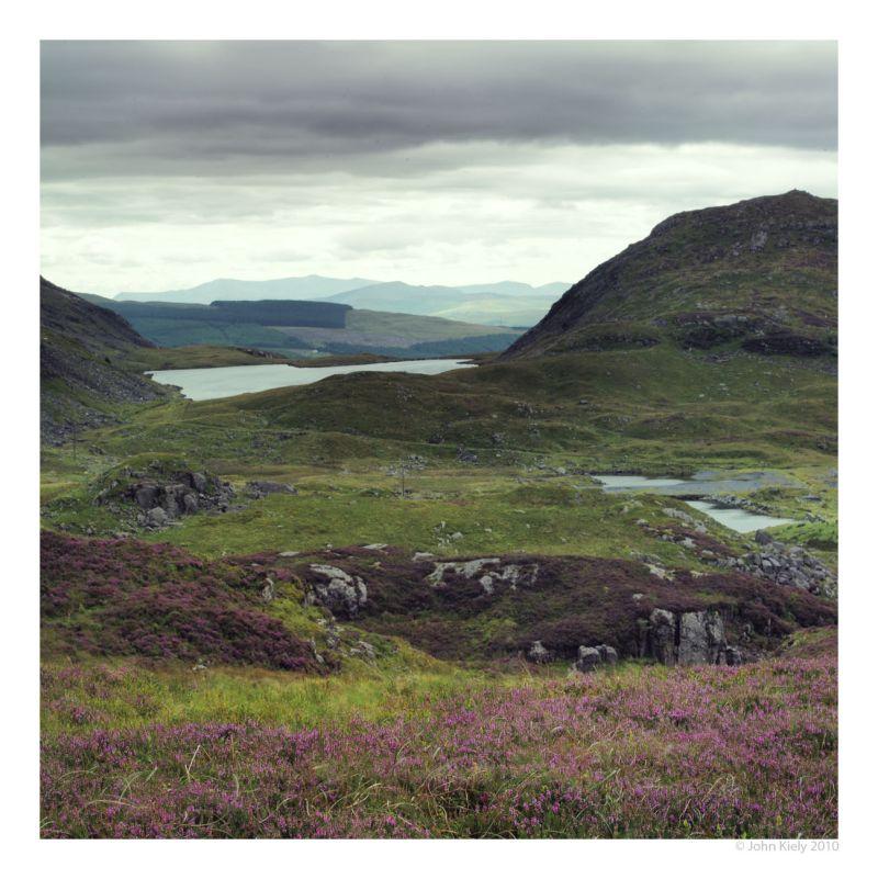 Colour landscape photograph of llyn y manod