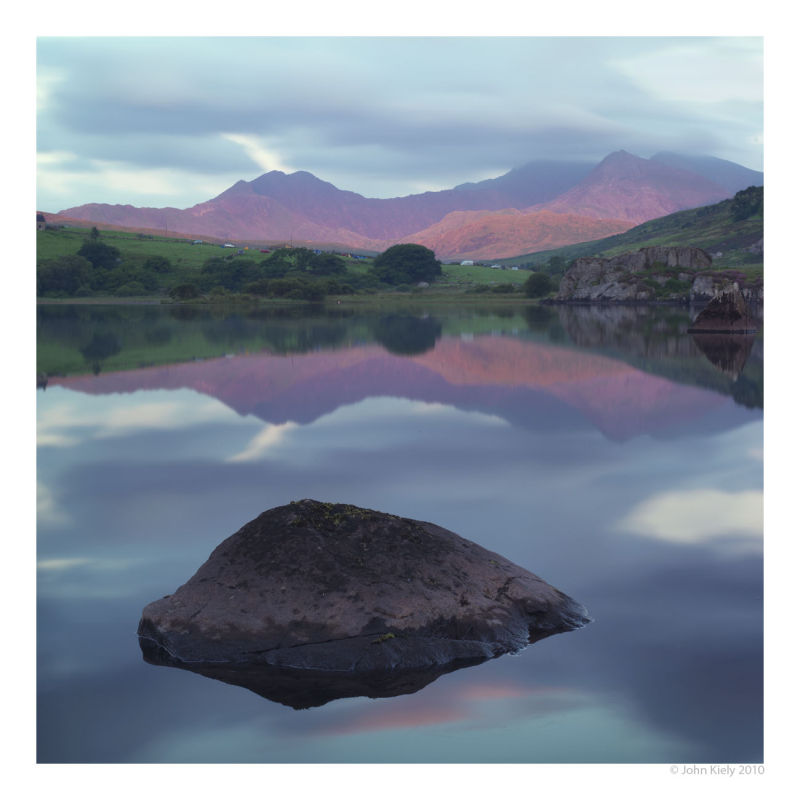 Colour landscape photograph of Llynnau Mymbyr