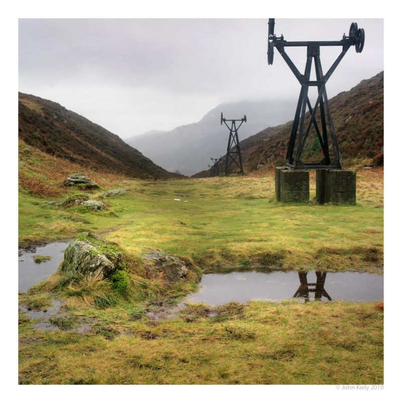 Derelict copper mines in Cwm Bychan, North Wales