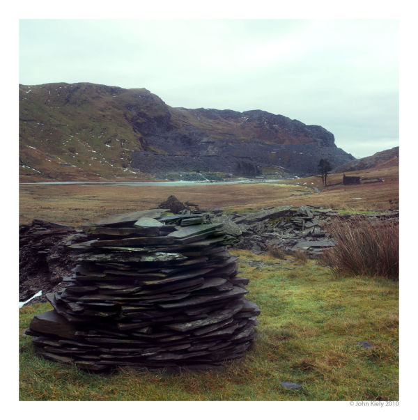Images of derelict slate mines, Cwm Orthin