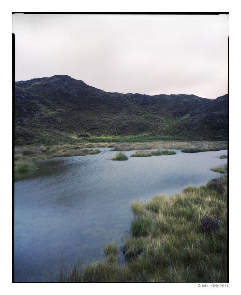 shallow pond in Cwm Bychan, Snowdonia, North Wales