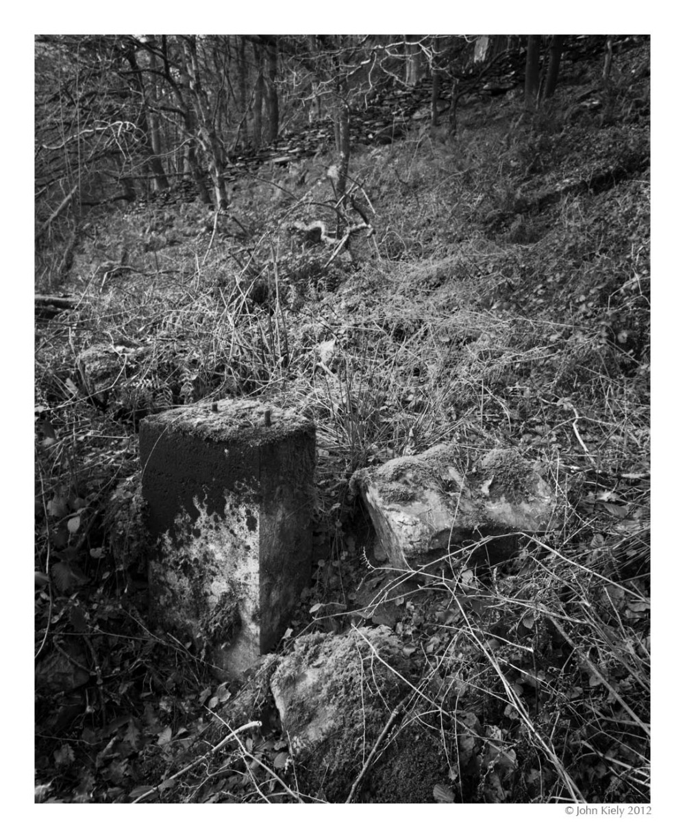 Cwm Bychan - a n abandoned copper mine area