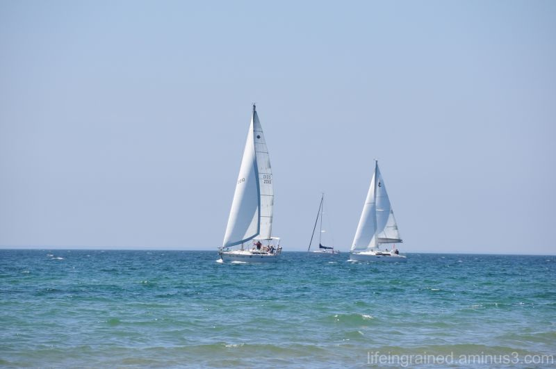 Luxury of sail boats on a beautiful spring day