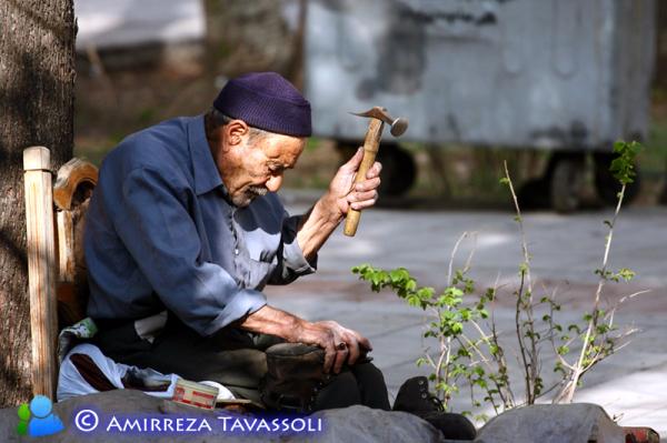 Old Man Working