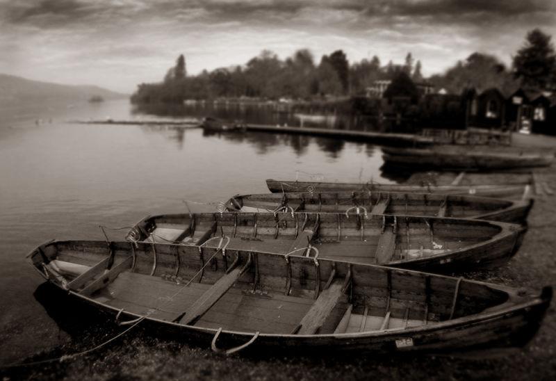 Boats on Windermere lake.