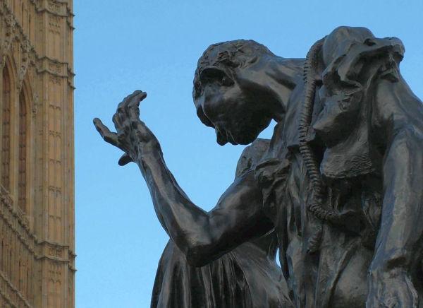 Rodin à Londres près de Westminster.