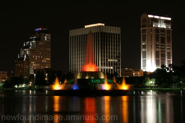 Orlando at night.