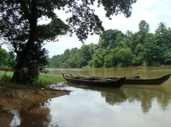 Canoe's on Meenachil River at Peroor