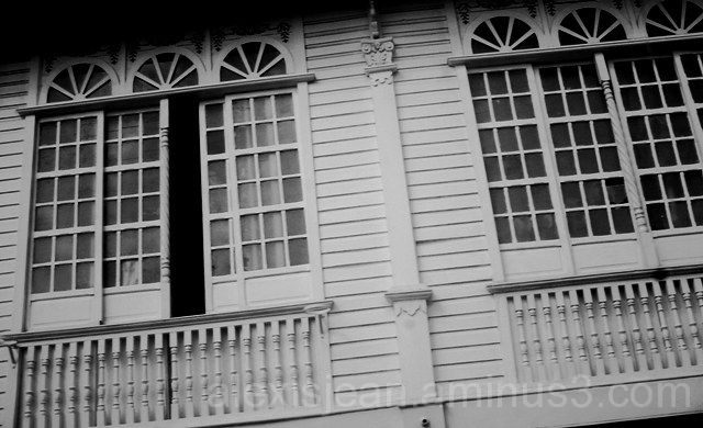 windows of an old style house in Laguna PH