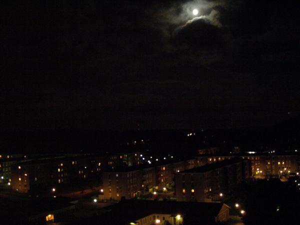 Moon in the sky over Lower Lövgärdet