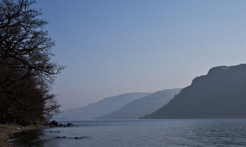 mountains on a lake