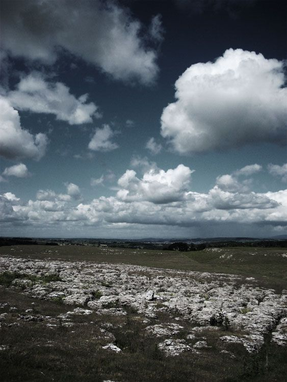 clouds over the land