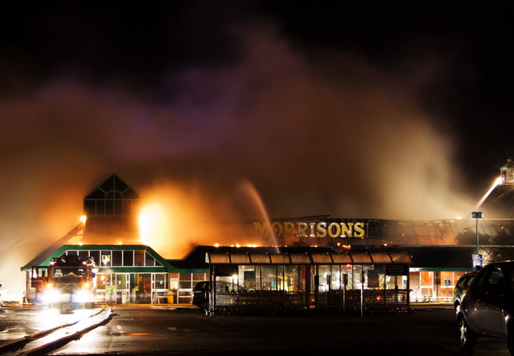 Fire at the Morrisons supermarket, Penrith