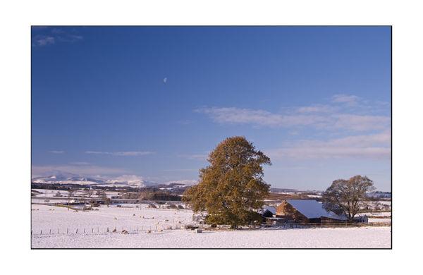 snow on the Lakeland fells