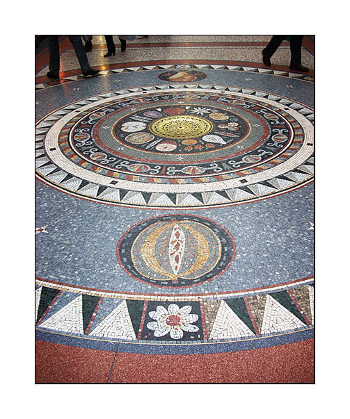 mosaic in shopping centre