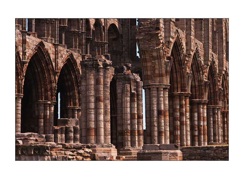 arches at Whitby Abbey, North Yorkshire, UK