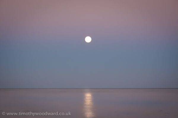 Moon over Exmouth Bay