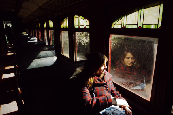 reflejo en el tren