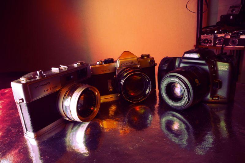 old minolta cameras