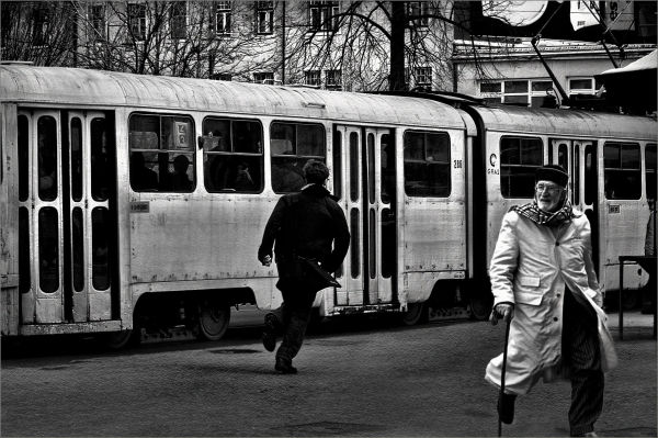 Running after Tram