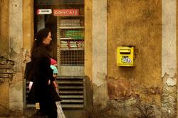 Old Yellow Mailbox