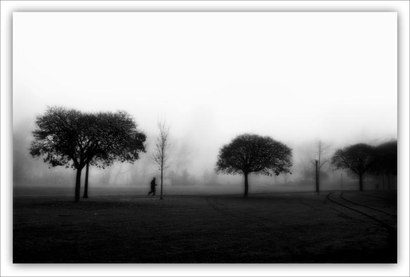 runner through the Fog