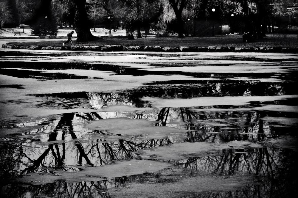 Melting Ice on Victoria lake