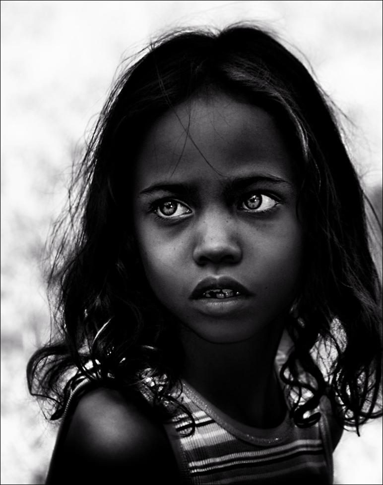 Girl BW portrait