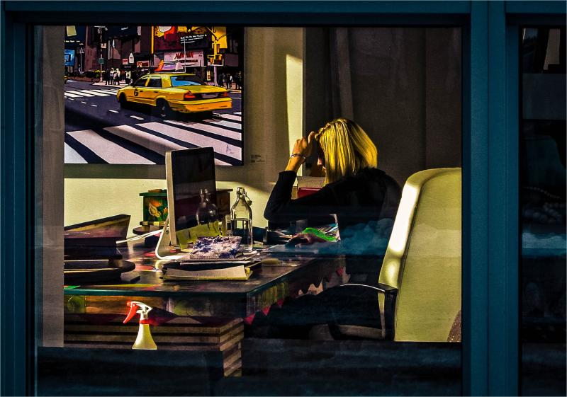Her Working Desk