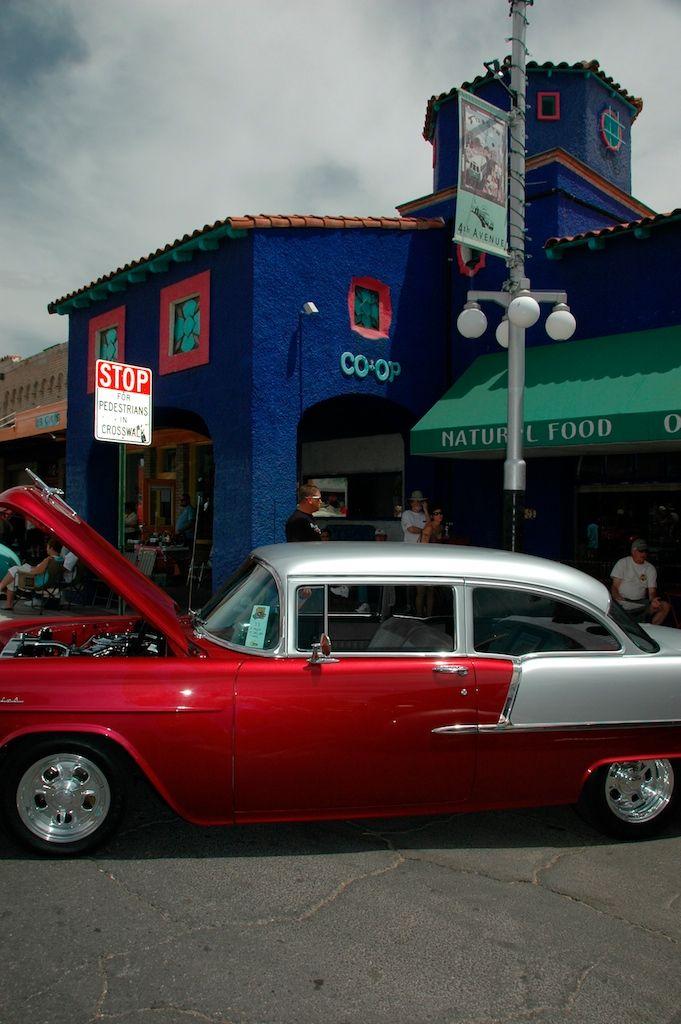 Hot rod car on Tucson's Fourth Avenue