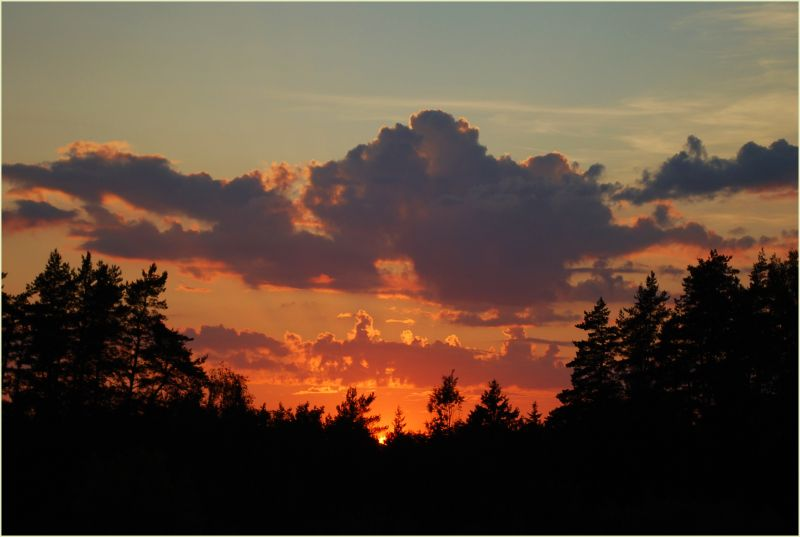 fantastic sunset sky