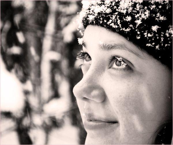 portrait in snow