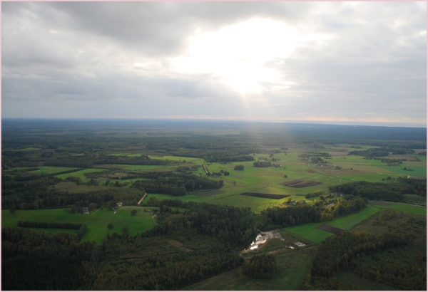 view from airballoon