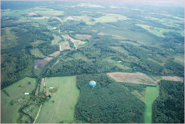 latvian landscape from an air balloon