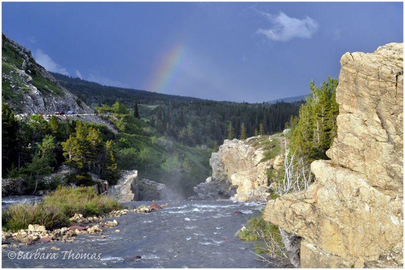 Mist and Rainbow at the top of the Falls
