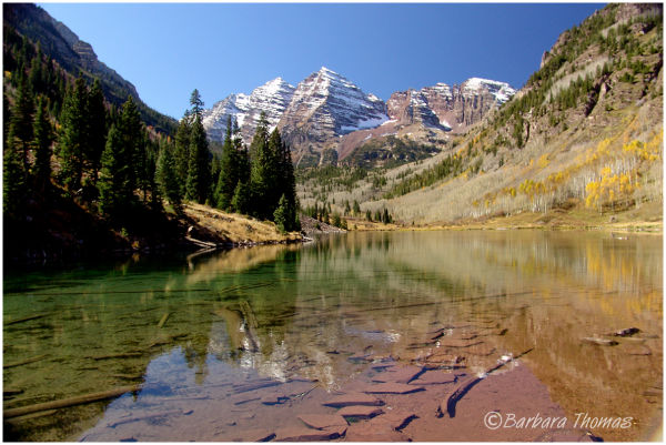 Maroon Lake Below Maroon Bells