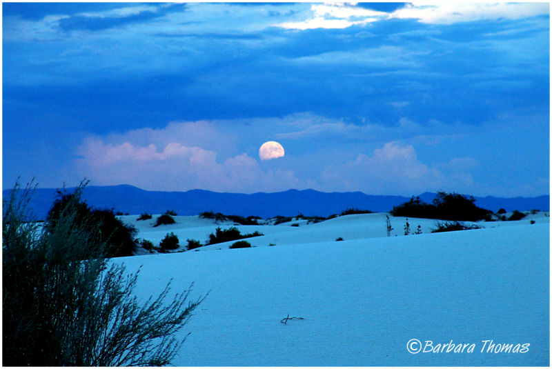 Full Moon, White Sand